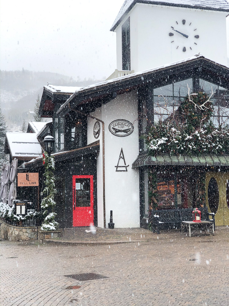 vail village in the snow