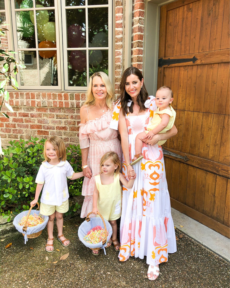 family dressed for Easter