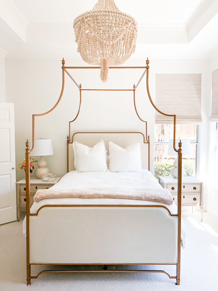 canopy bed and chandelier