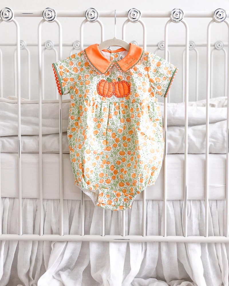 pumpkin baby bubble hanging on crib