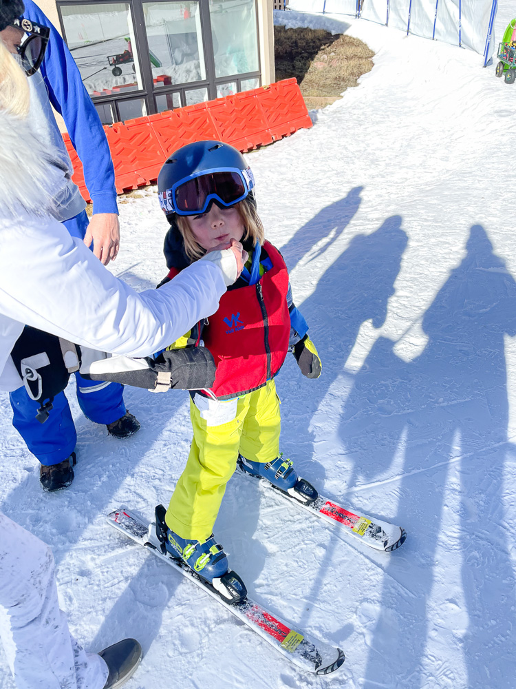 four year old boy skiing at vail