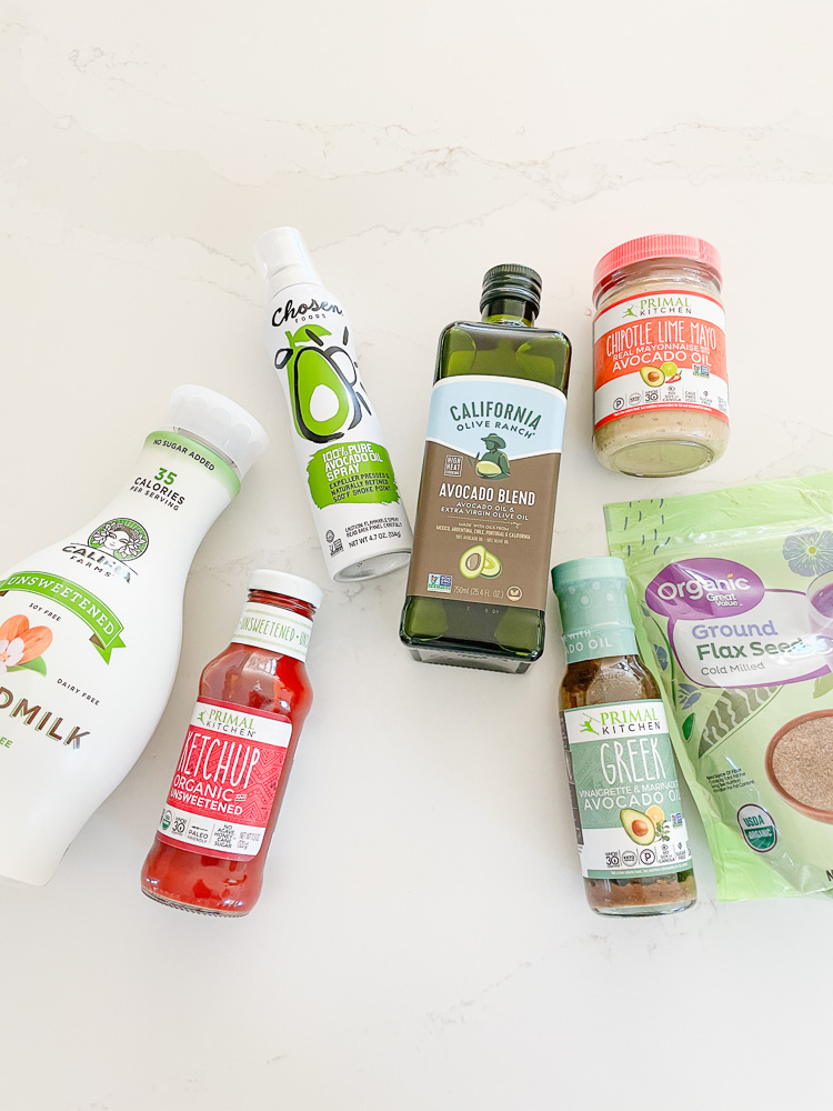 assortment of organic pantry items
