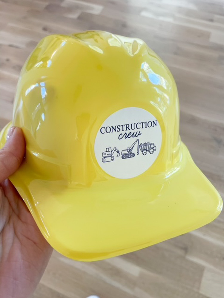 play hard hat for construction theme birthday party