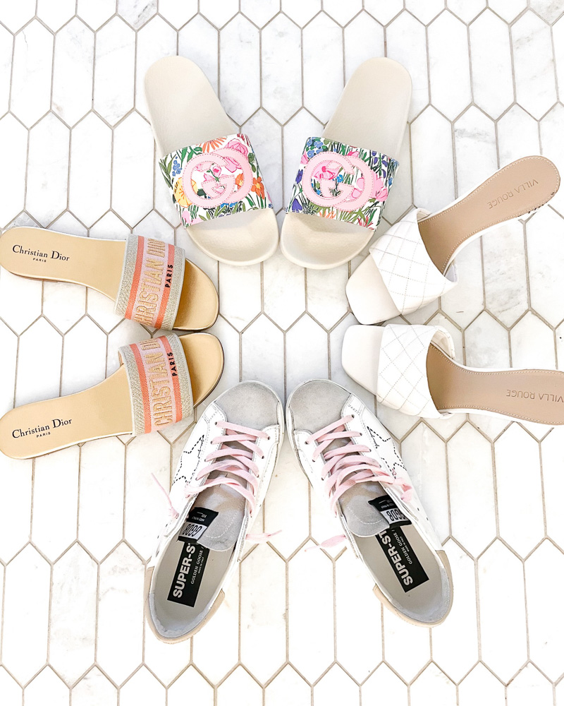 four pairs of spring shoes