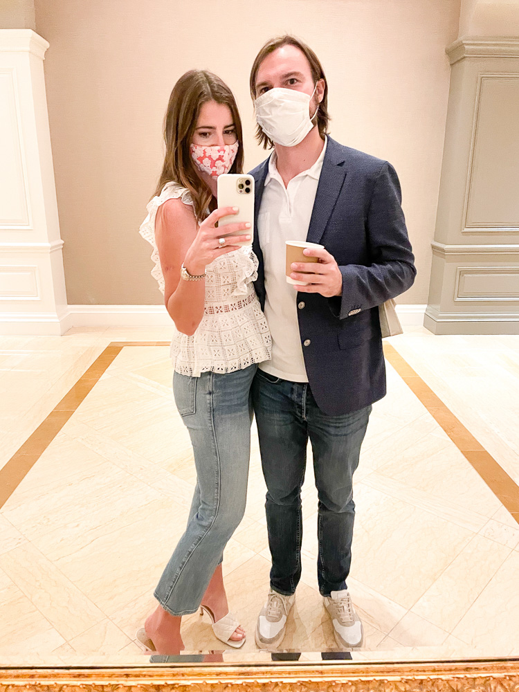 couple in face masks