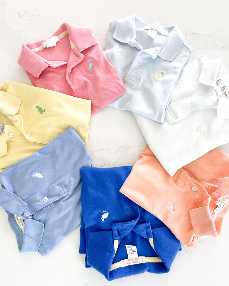 multi colored boys polo shirts