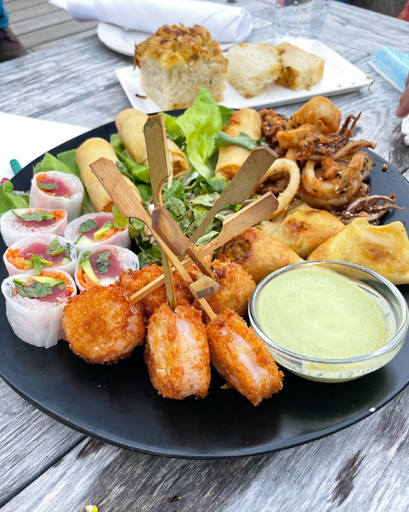 assorted seafood appetizer