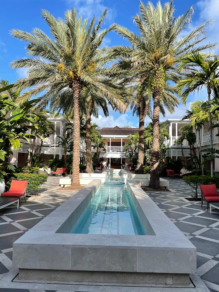 courtyard of hartford wing ocean club bahamas