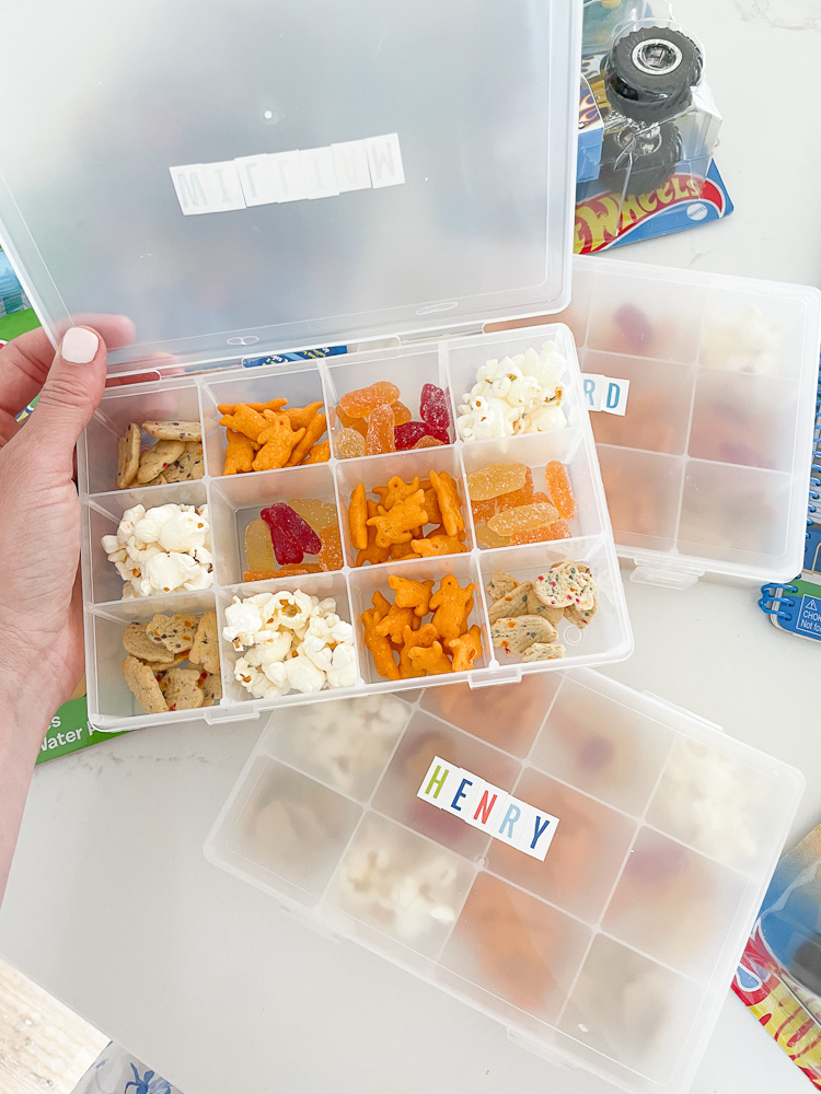filled snack box for kids