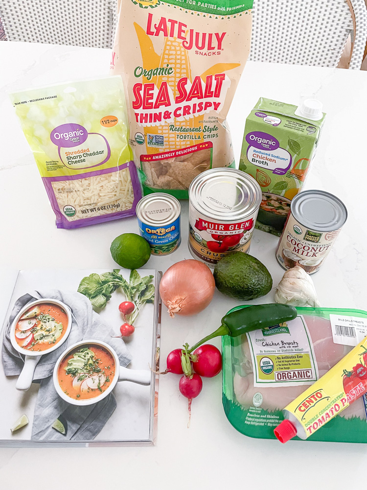 ingredients for tortilla-less soup