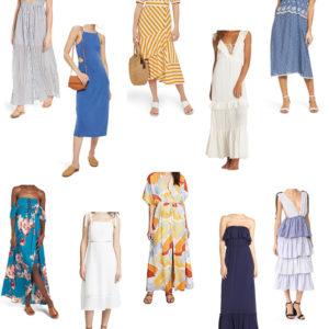 ten midi/maxi dresses under $100