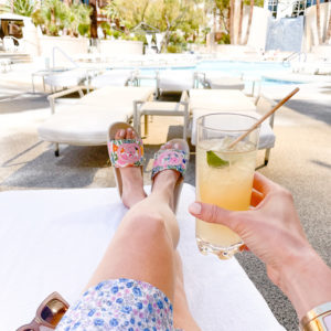 cocktail by the pool four seasons las vegas